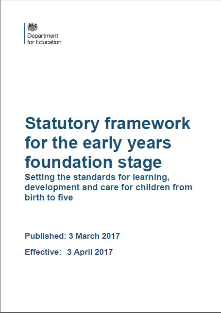 This framework is for all early years providers in England (from 3 April 2017).
