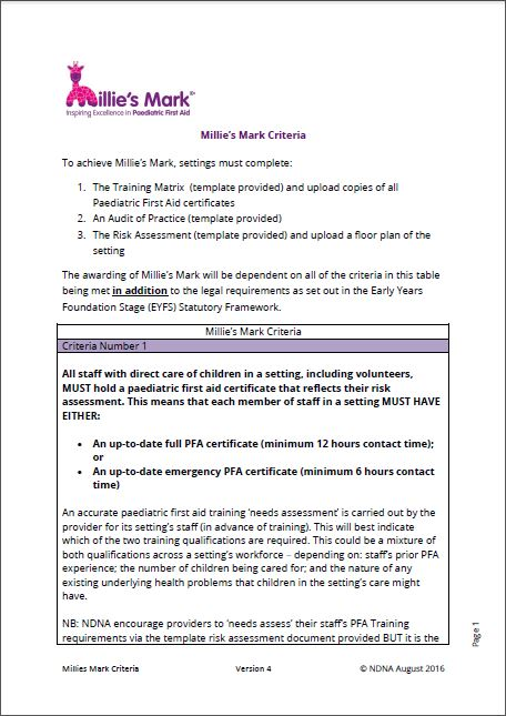 Download; Millieu0027s Mark Criteria  First Aid Certificate Template