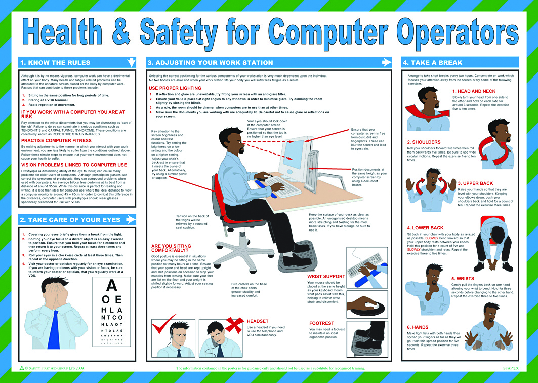 Health Amp Safety For Computer Operators Aid Training