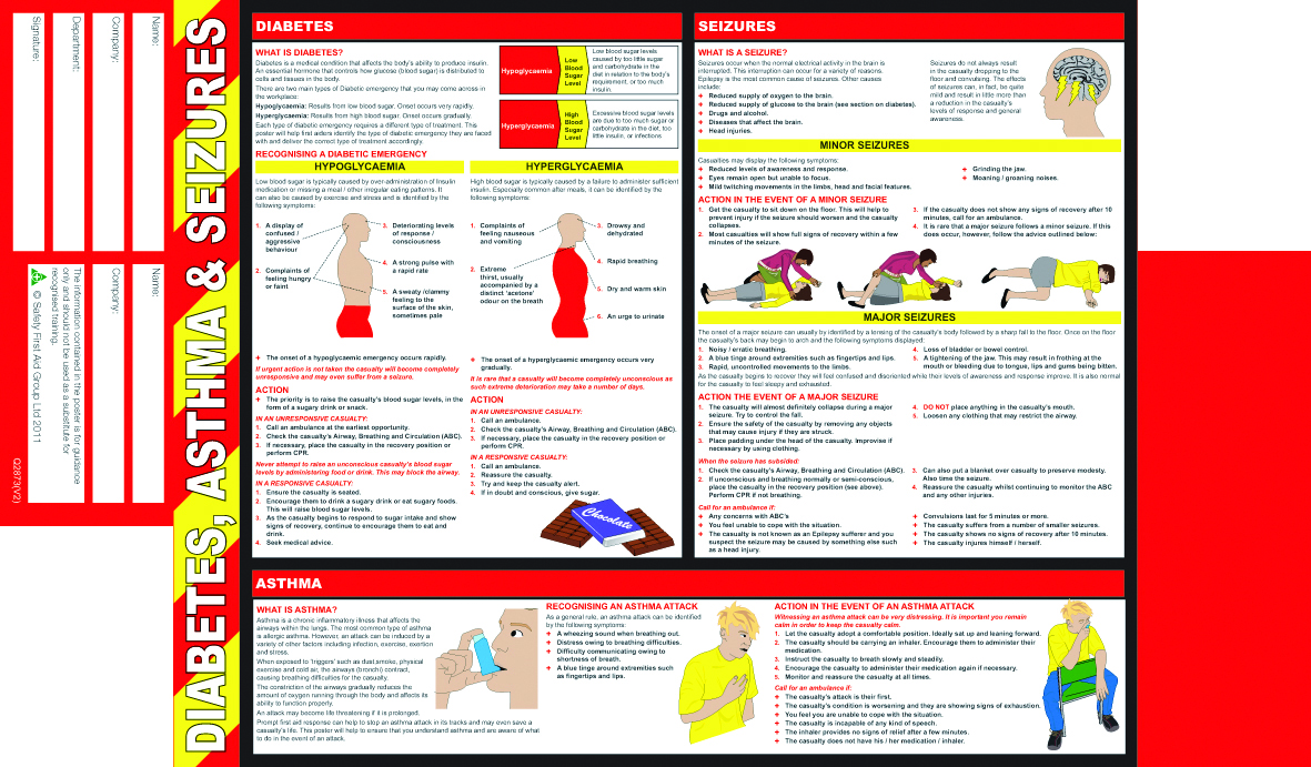 first aid amp health and safety pocket guides aid training